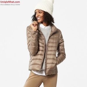 UNIQLO - Ultra Light Taupe Packable Down Jacket